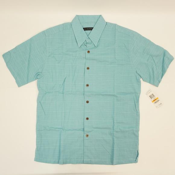 Via Europa Other - Via Europa Short Sleeve Rayon Blend Shirt Teal